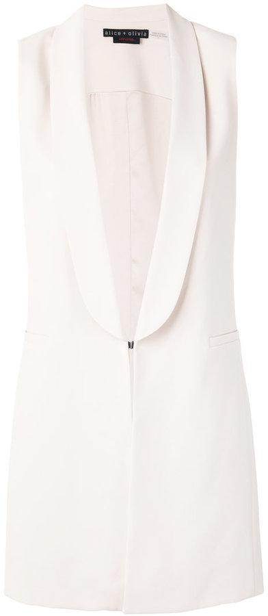 Alice + OliviaAlice+Olivia shawl lapel elongated waistcoat