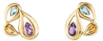 14K Amethyst, Citrine & Topaz Drop earrings