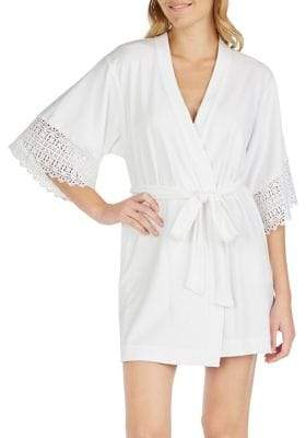 Betsey Johnson Lace Bridal Robe