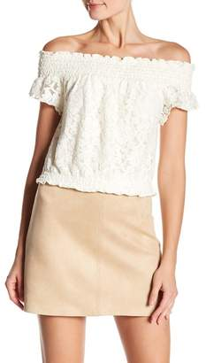 BB Dakota Bouchon Lace Off-the-Shoulder Blouse