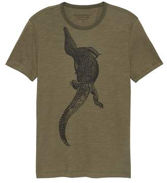Banana Republic Soft Wash Alligator Graphic T-Shirt