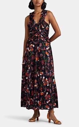 Derek Lam 10 Crosby Women's Abstract-Floral Maxi Dress - Black