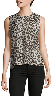 Equipment Raegan Sleeveless Animal Print Top
