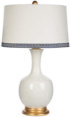 Volos Greek Key Table Lamp - White/Gold - Bradburn Home