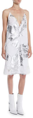 Calvin Klein Andy Warhol Metallic Digital-Print Cami Dress