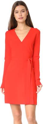 Diane von Furstenberg V Neck Knit Wrap Dress