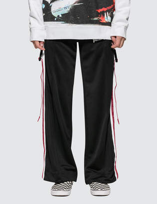 Palm Angels Side Tape Wide Leg Track Pants