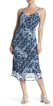 RD Style Spaghetti Strap Patterned Slip Dress
