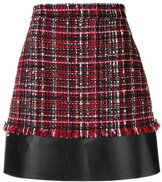 Alexander McQueen short tweed skirt