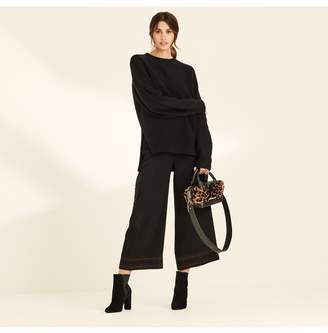 Amanda Wakeley Black Crew Neck Oversized Cashmere Jumper
