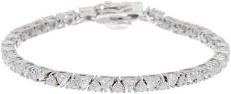 2heart 5.00 Ct D/VVS1 Diamond Trillion Cut Tennis Bracelet, 14K Gold Plated Sterling