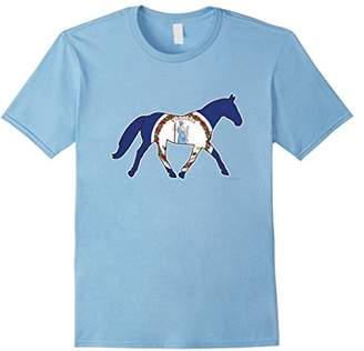 Horse Decal Style Virginia Flag T-shirt for Equestrians