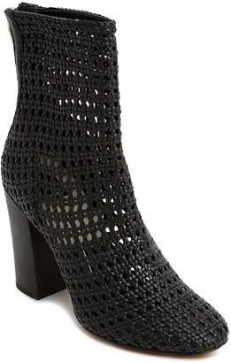 Dolce Vita Women's Woven Leather Block Heel Booties