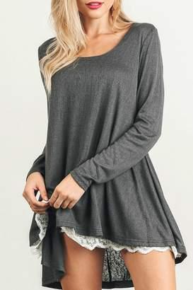Umgee USA Lace Trim Dress