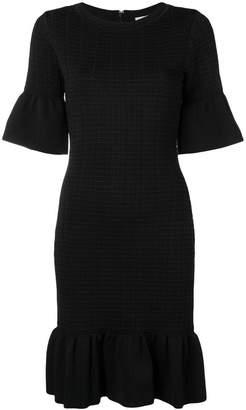 MICHAEL Michael Kors textured ruffle trim dress