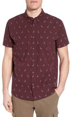 Prana Broderick Slim Fit Short Sleeve Sport Shirt
