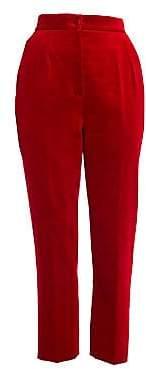 Dolce & Gabbana Dolce& Gabbana Dolce& Gabbana Women's High-Rise Velvet Ankle Pants