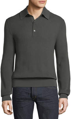 Tom Ford Long-Sleeve Knit Polo Shirt