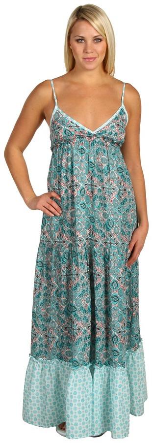 Roxy - For Shore Triangle Top Maxi Dress (Riviera Turquoise Batik) - Apparel
