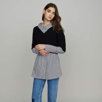 Maje Layered effect cropped sweater