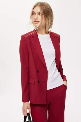 Topshop Womens Slouch Suit Trousers - Burgundy