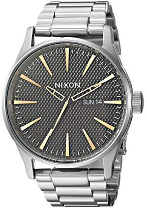 Nixon Sentry SS A3562730-00. Black Stamped/Gold Men's Watch (42mm Black Stamped/Gold Watch Case. 23-20mm Stainless Steel Band)