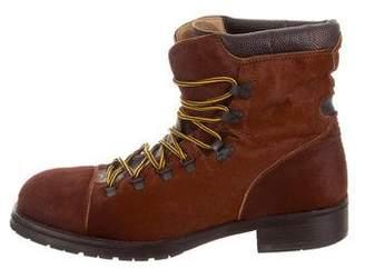 Dolce & Gabbana Ponyhair Cap-toe Hiking Boots
