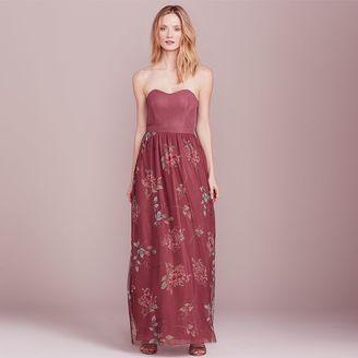 LC Lauren Conrad Dress Up Shop Collection Floral Strapless Maxi Dress - Women's $100 thestylecure.com
