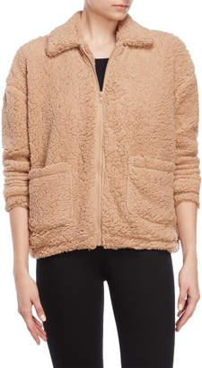 Pink Rose Gia Faux Sherpa Jacket