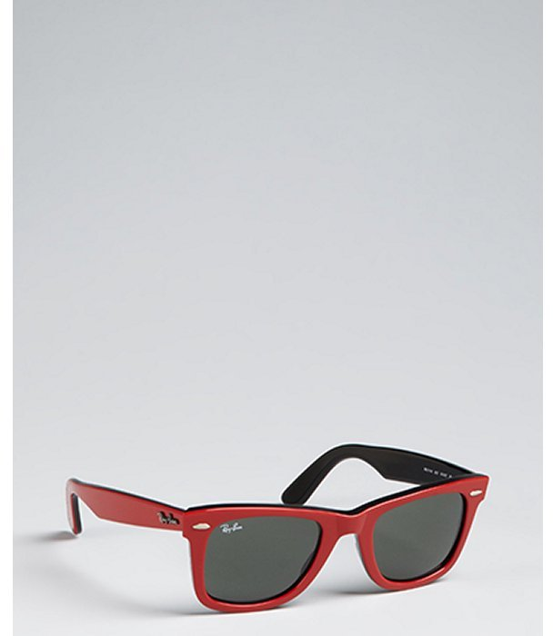 Ray-Ban red plastic 'Original Wayfarer' sunglasses