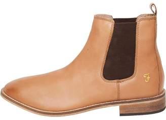 Farah Mens Kirk Leather Chelsea Boots Tan