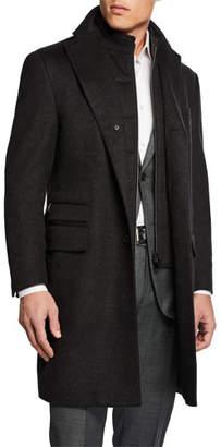 Corneliani Men's ID Wool Top Coat, Gray