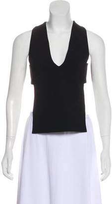 Tibi Tie-Back Sleeveless Top