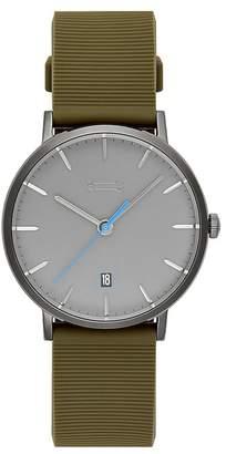 Rebecca Minkoff Norrebro Grey Tone Rubberized Strap Watch, 40Mm