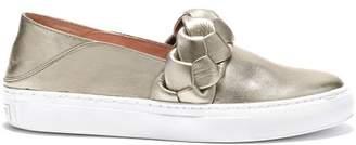 Rachel Zoe Burke Braided Leather Slip-On Sneakers