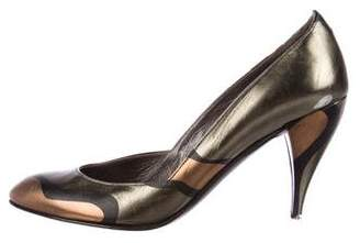 Charles Jourdan Metallic Printed Pumps