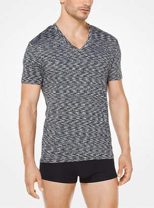 Michael Kors Melange Jersey V-Neck T-Shirt