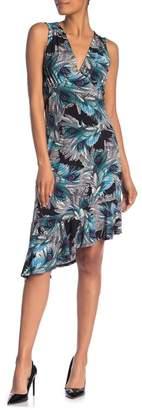 Leota Isabella Printed Mock Neck Midi Dress