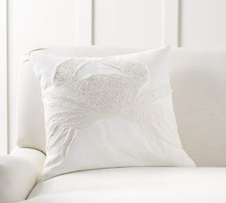 Pottery Barn Crabby Embroidered Pillow Cover