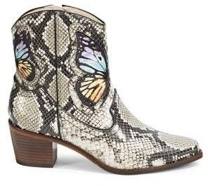 Sophia Webster Shelby Cowboy Leather Ankle Booties