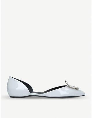 Roger Vivier D'Orsay Choc patent-leather ballerina flats