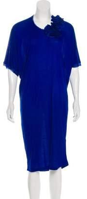 Lanvin Asymmetrical Silk-Accented Dress