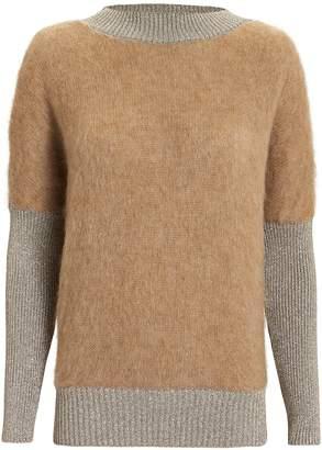 Alberta Ferretti Lurex Trim Sweater