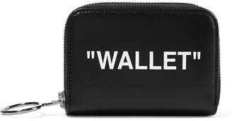 Off-White Printed Textured-leather Wallet - Black