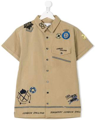 Burberry TEEN short-sleeve embellished shirt