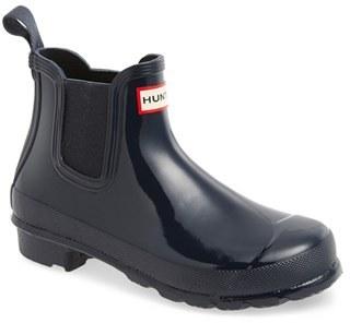Women's Hunter 'Original Gloss' Waterproof Chelsea Boot $135 thestylecure.com