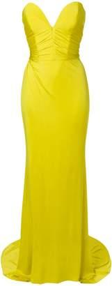 Alexandre Vauthier strapless slit front gown