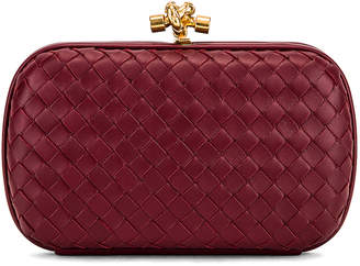 Bottega Veneta Woven Leather Crossbody Bag in Bordeaux & Gold | FWRD