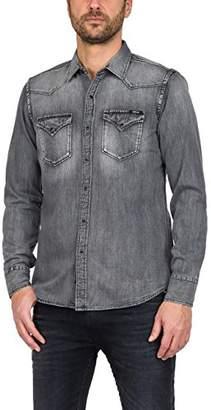 Replay Men's M4860z.000.154 317 Shirt, (Black Denim 10)