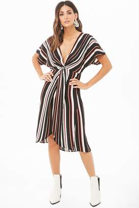 Forever 21 Striped High-Low Dress